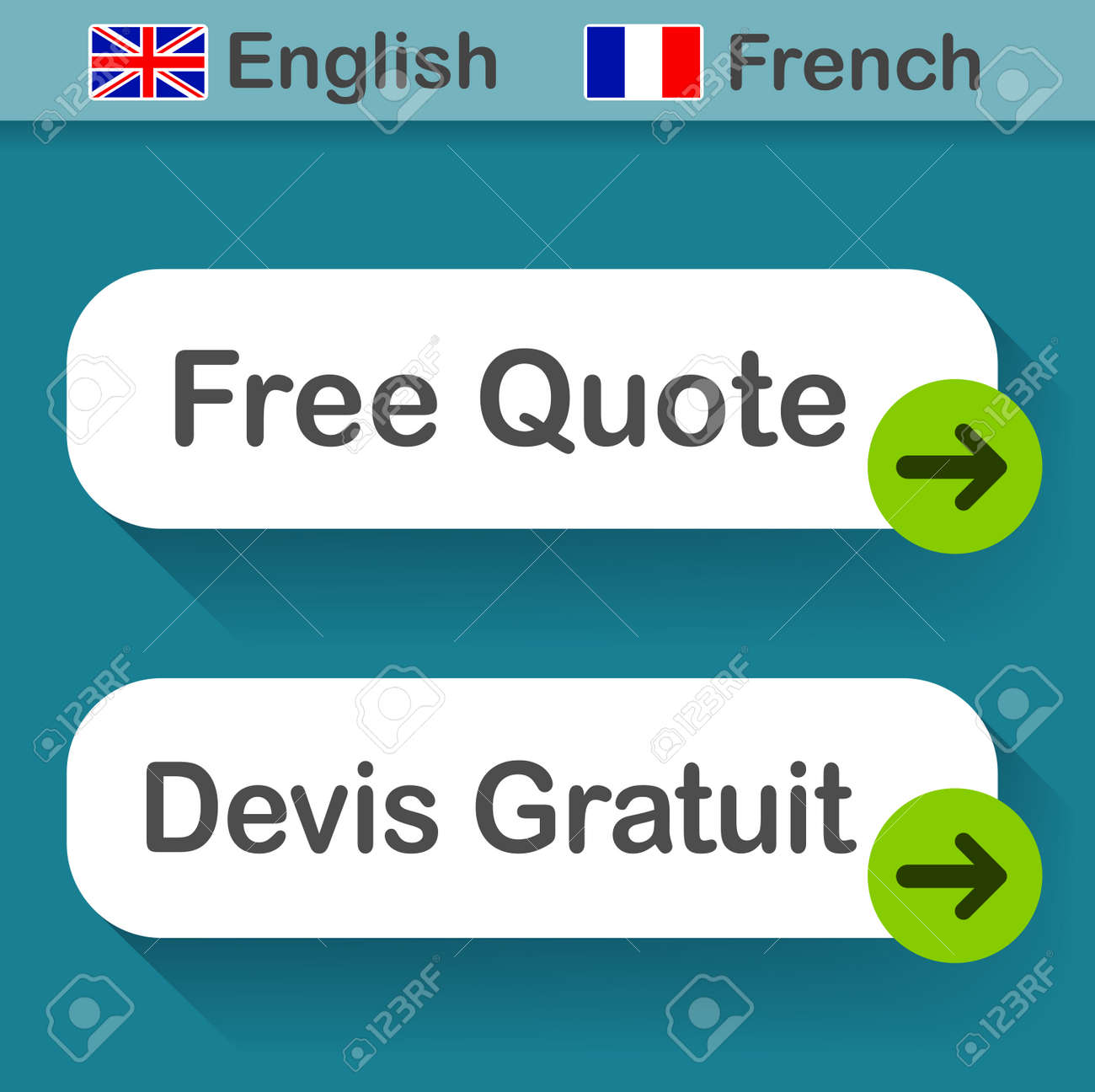 123Rf Gratuit illustration of free quote button with french translation royalty