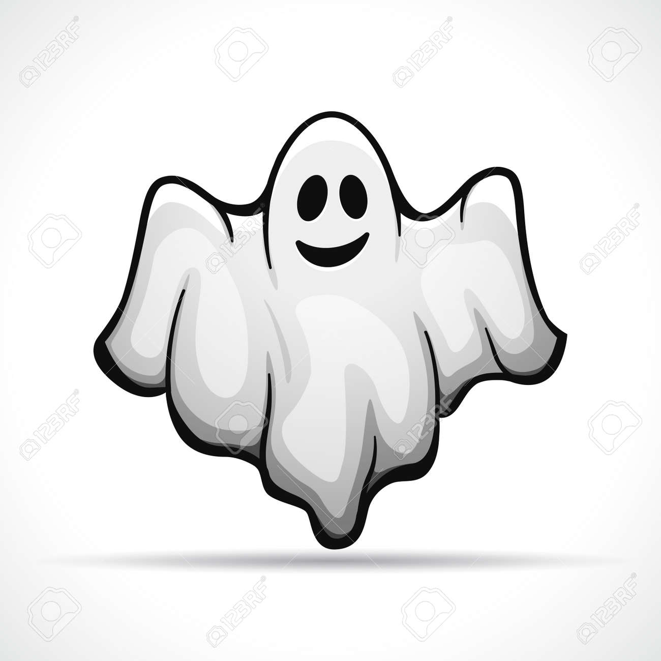 Vector illustration of ghost on white background - 110041503