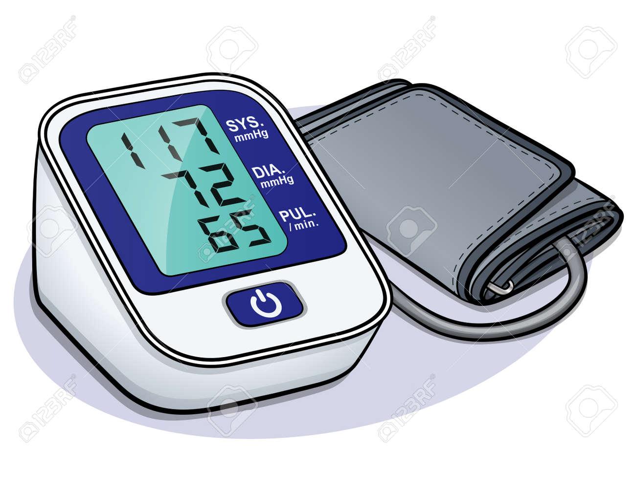 Vector illustration of blood pressure monitor design - 110041506