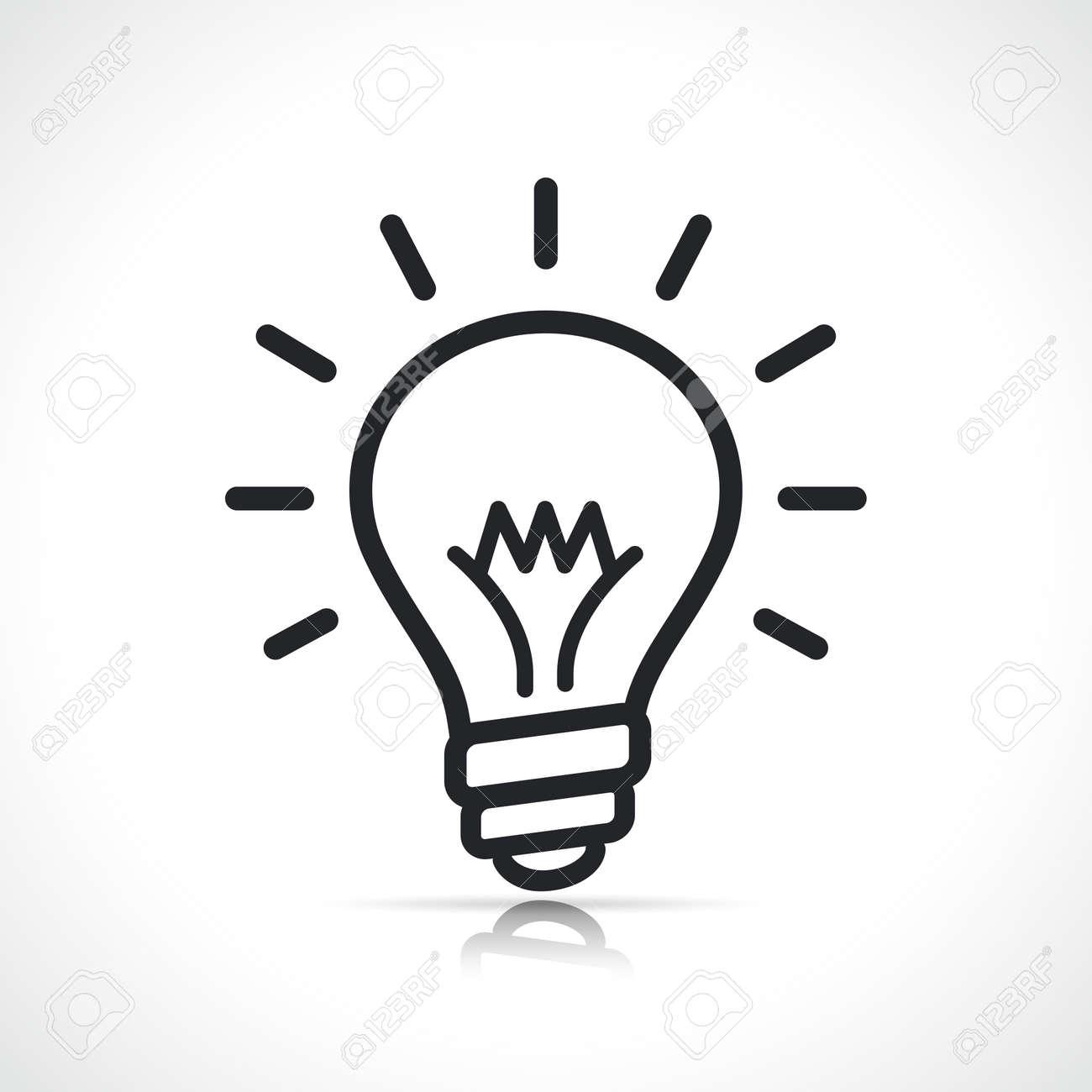 bulb or lightbulb icon isolated line symbol - 169012557
