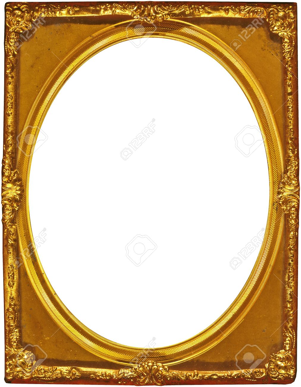 Gilded gold picture frame with oval cutout stock photo picture gilded gold picture frame with oval cutout stock photo 14329196 jeuxipadfo Images