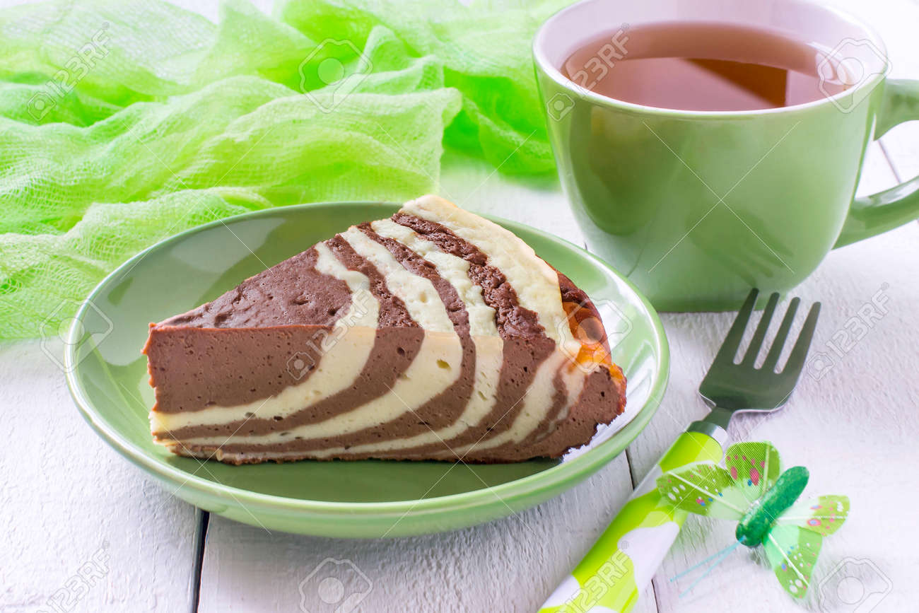 Delicious Homemade Chocolate Cake With Cottage Cheese Zebra Marble Stock Photo Picture And Royalty Free Image Image 78743836