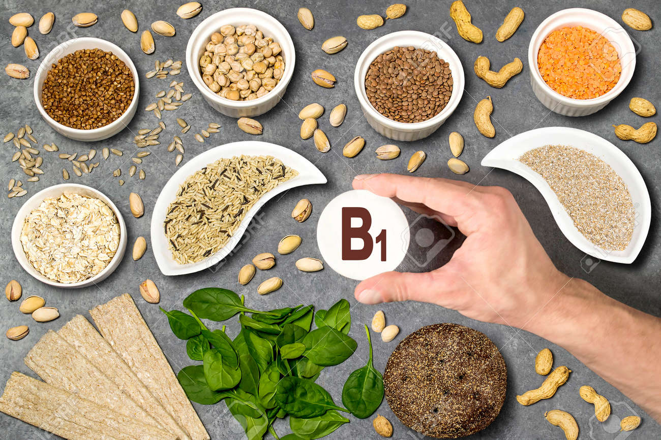 Food Rich In Vitamin B1 Various Natural Sources Of Vitamins Stock Photo Picture And Royalty Free Image Image 94290318