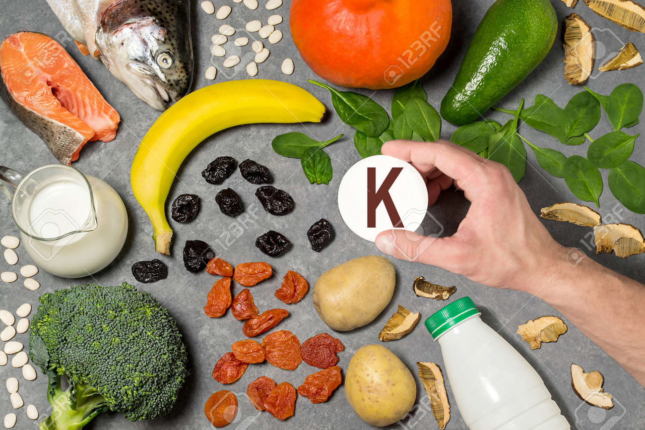 Food Rich In Potassium Various Natural Sources Of Vitamins And Stock Photo Picture And Royalty Free Image Image 94348185