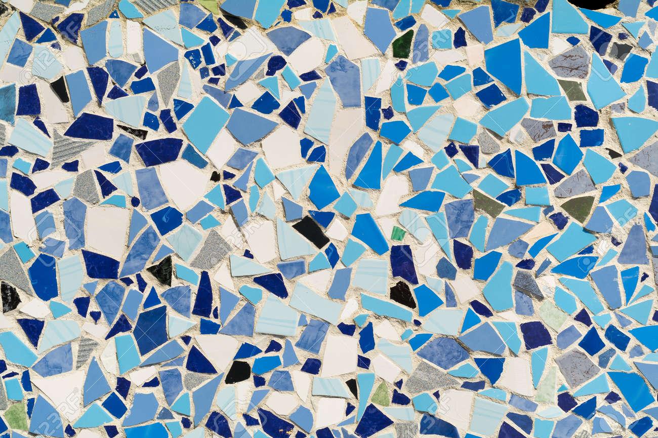 Mosaico Ornamento Decorativo De La Pared De Azulejos De Cerámica Rota