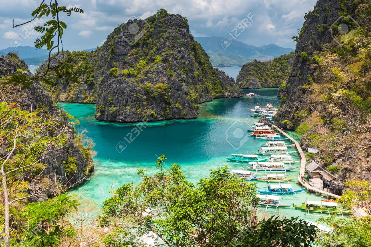 View Of Kayangan Lake Lagoon On Coron Island Busuanga Palawan