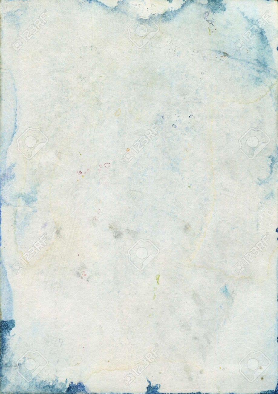 Stained Old Watercolor Paper Texture Stock Photo, Picture And ...
