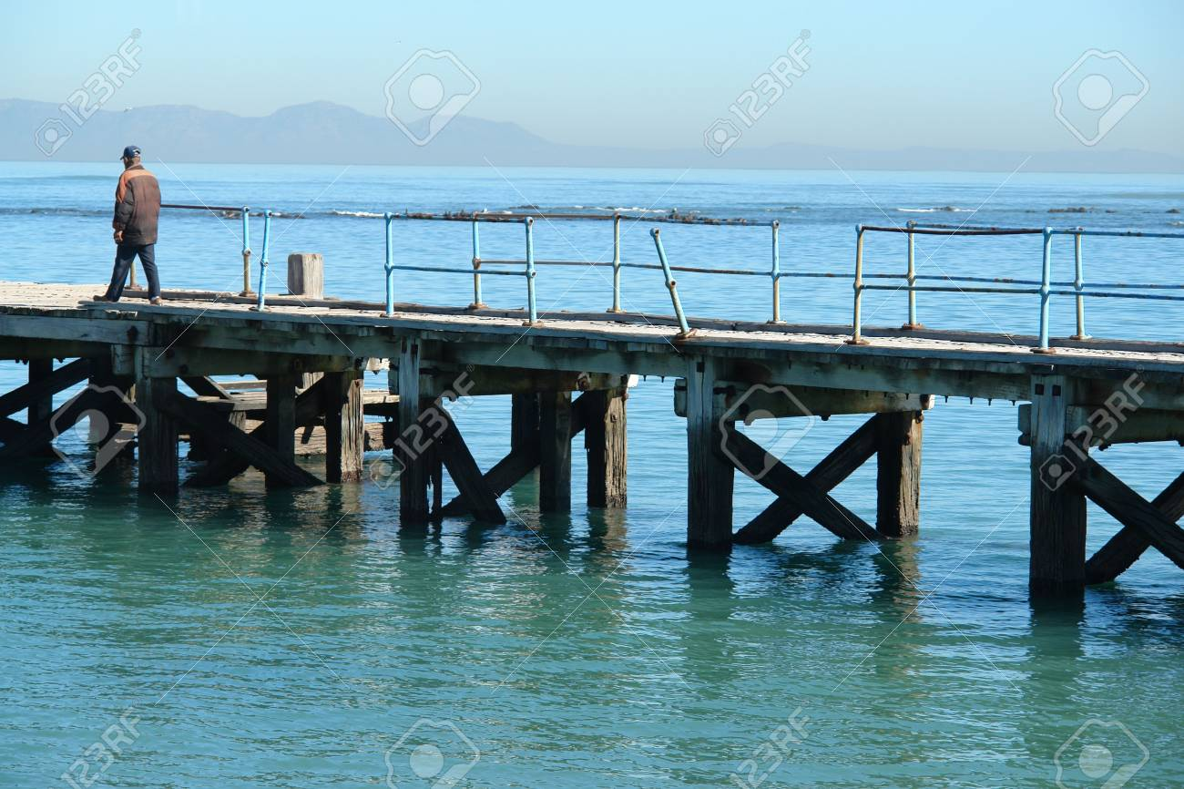 Pier at Strand in Cape Town Stock Photo - 653287