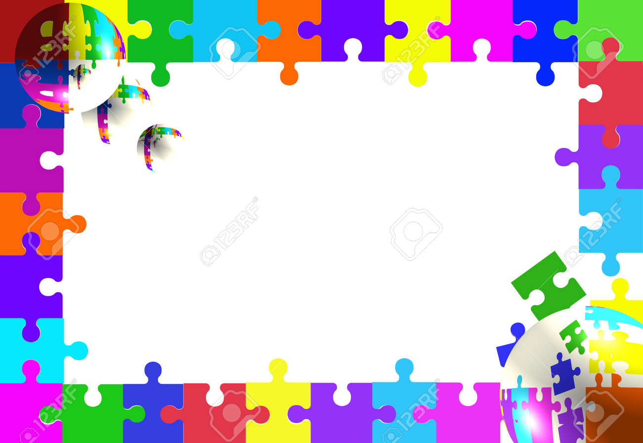 Jigsaw puzzle piece border with bubbles stock photo picture and jigsaw puzzle piece border with bubbles stock photo 3109535 jeuxipadfo Images