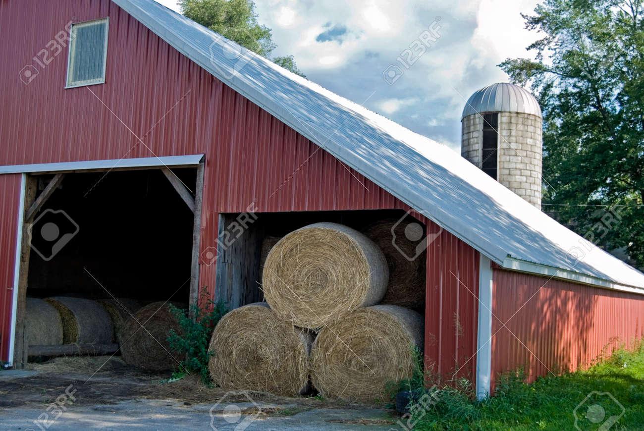 Barn full of hay bales. Stock Photo - 5395476
