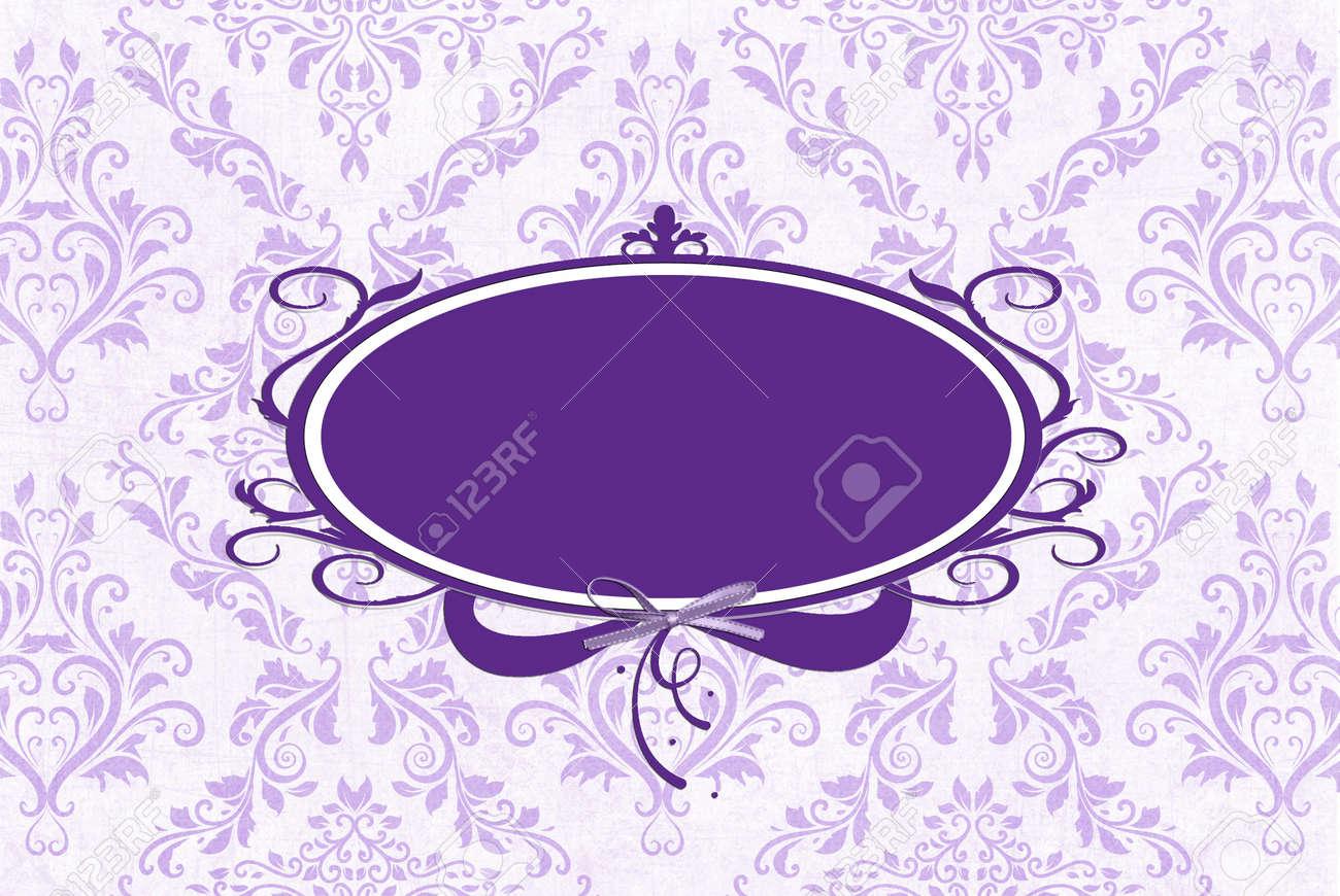 Marco Púrpura Con El Diseño De Damasco Color Lavanda. Fotos ...