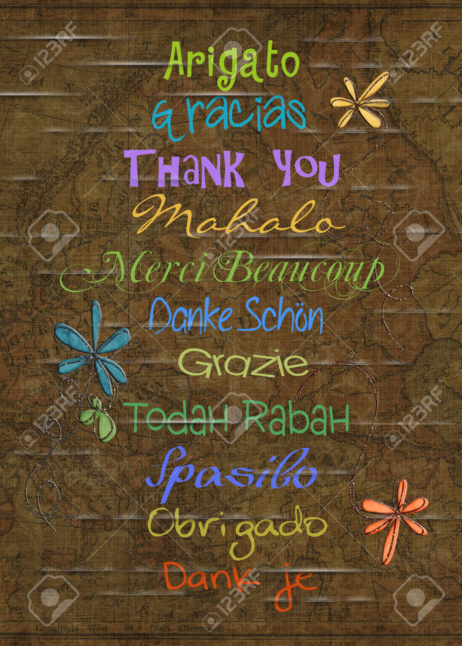 thank you in different languages Stock Photo - 19550380