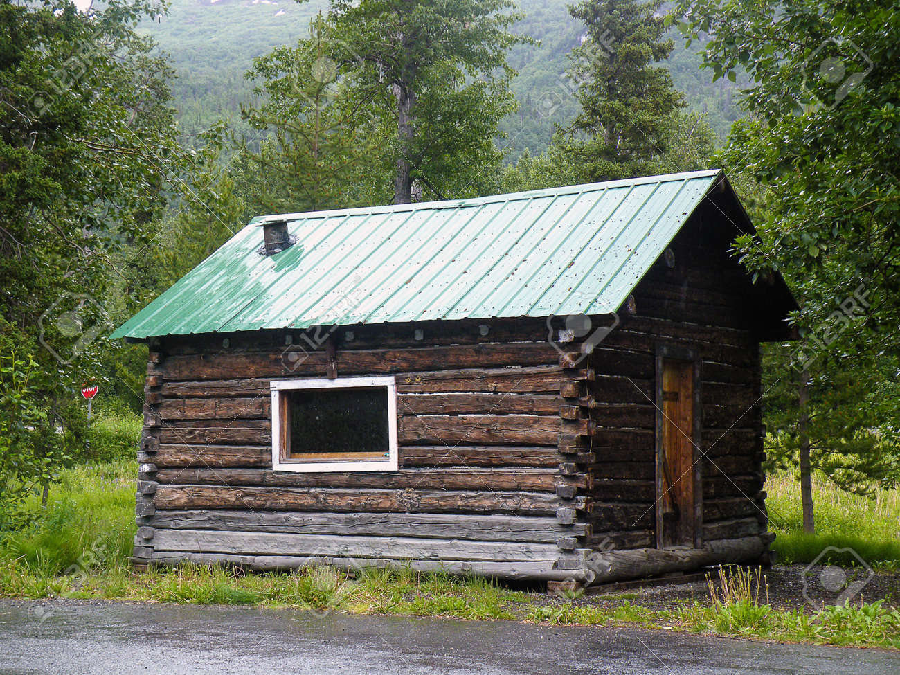 Old Rustic Log Cabin In Alaska Wilderness Stock Photo Picture And Royalty Free Image Image 100857255