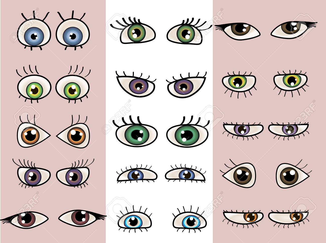 a set of beautiful eyes. Stock Vector - 10057170