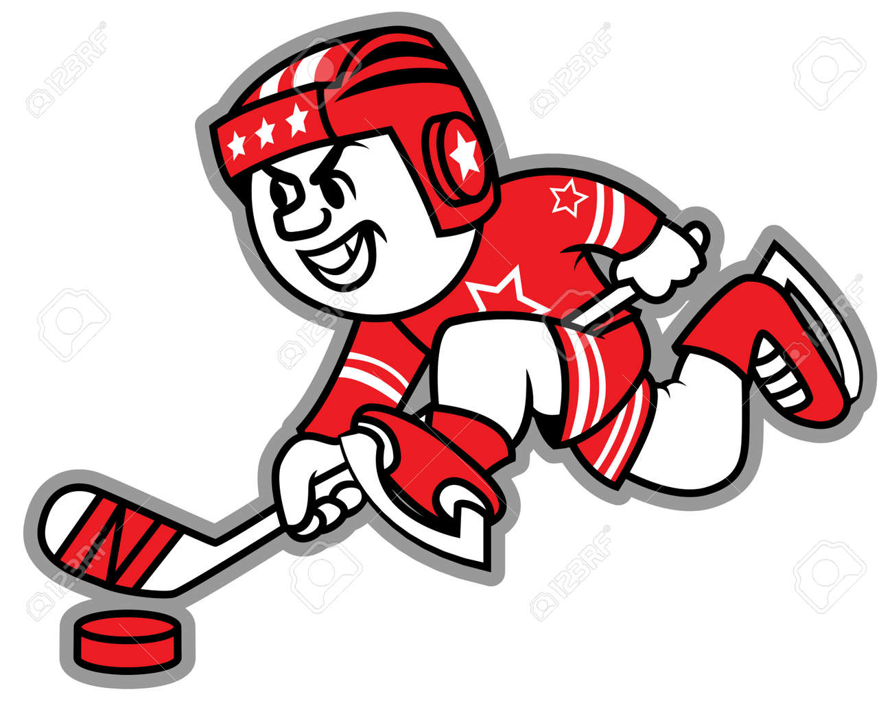 Ice hockey leading the puck. May be a logo and mascot team. Stock Vector - 17933473