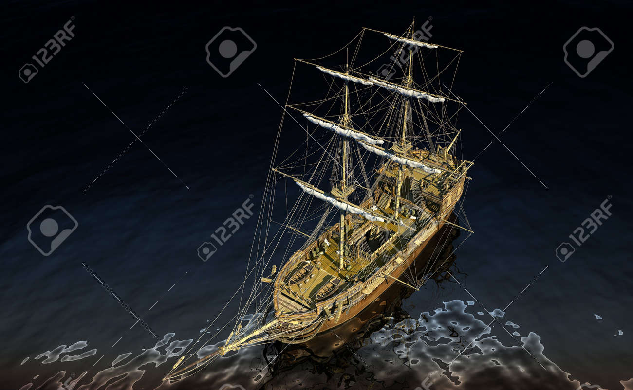 The ship sails at sea Stock Photo - 20118864