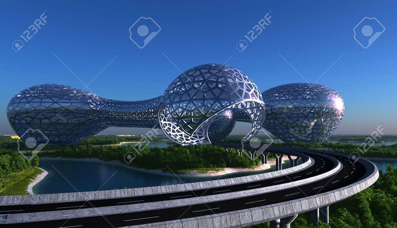 Future City on the coast - 54734271