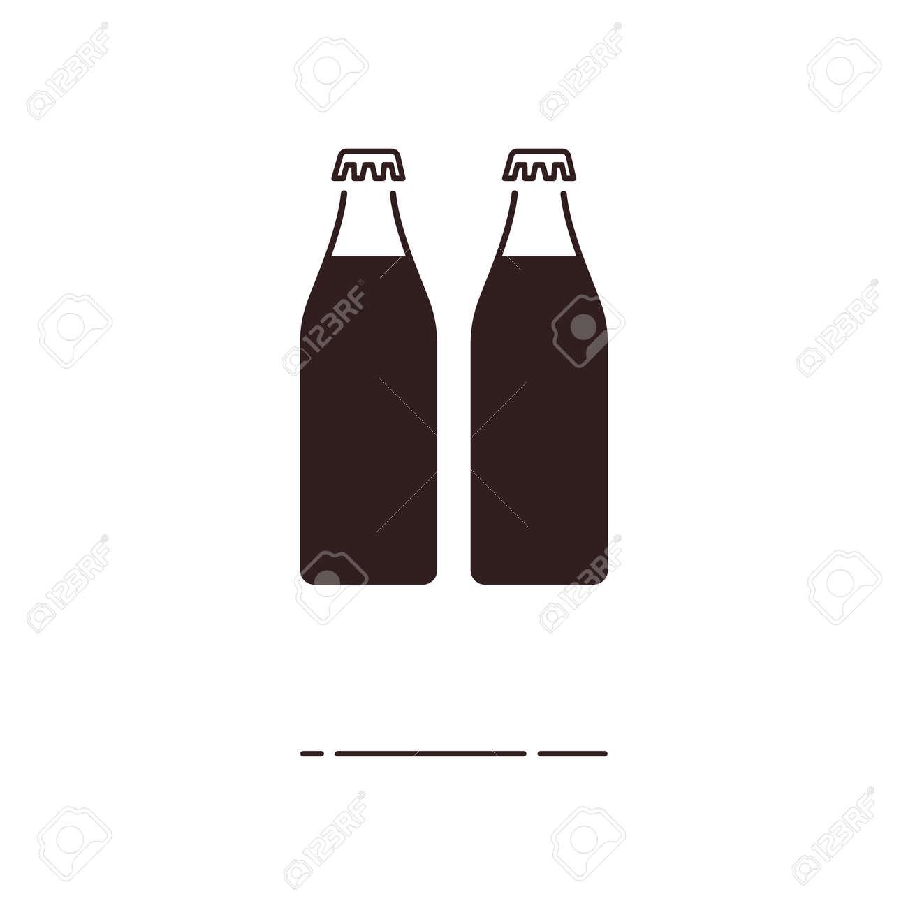 Minimal Modern Thin Line Soda Water Icon On White Background