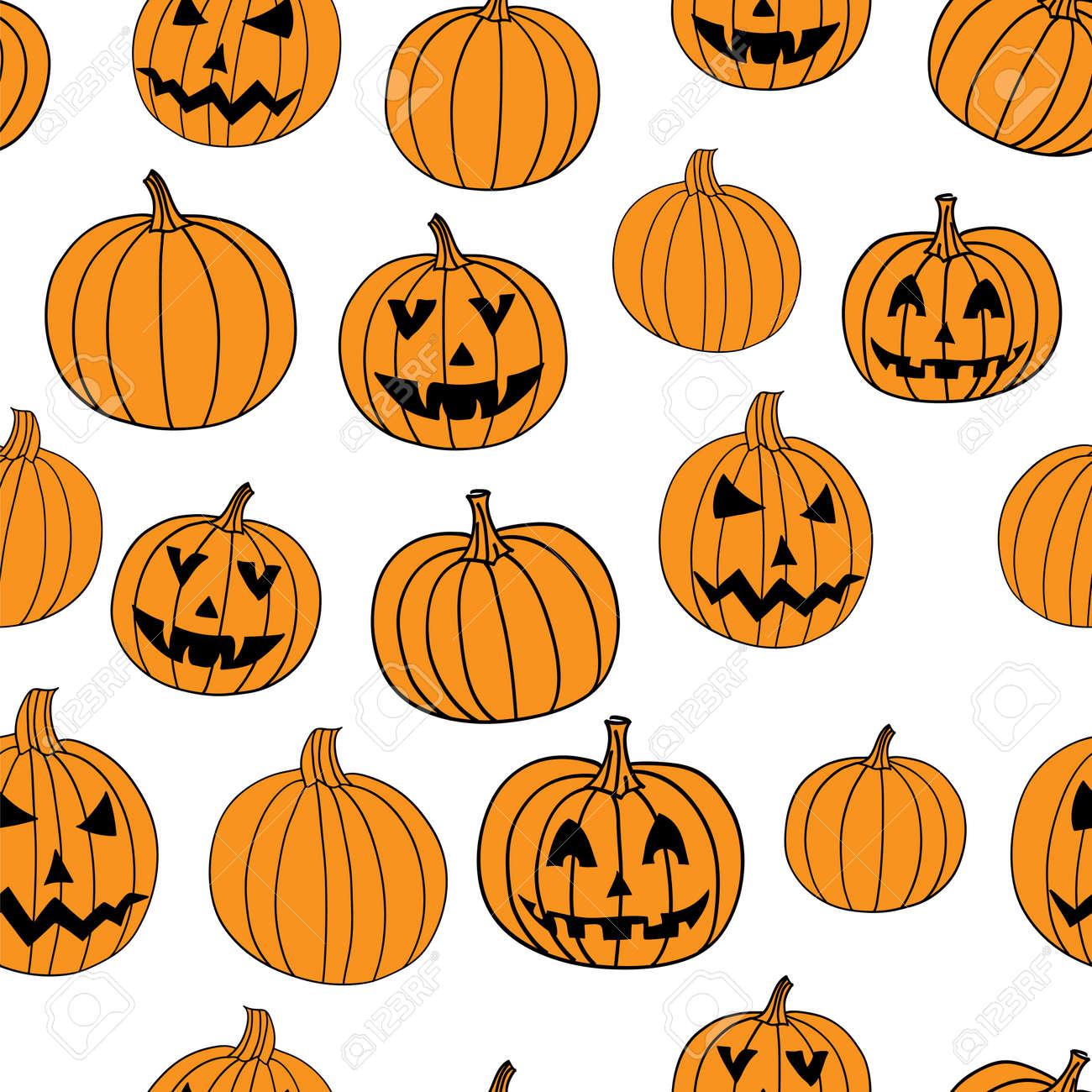 Halloween Vector Textile Print Seamless Pattern With Jack O Lantern Royalty Free Cliparts Vectors And Stock Illustration Image 63463713