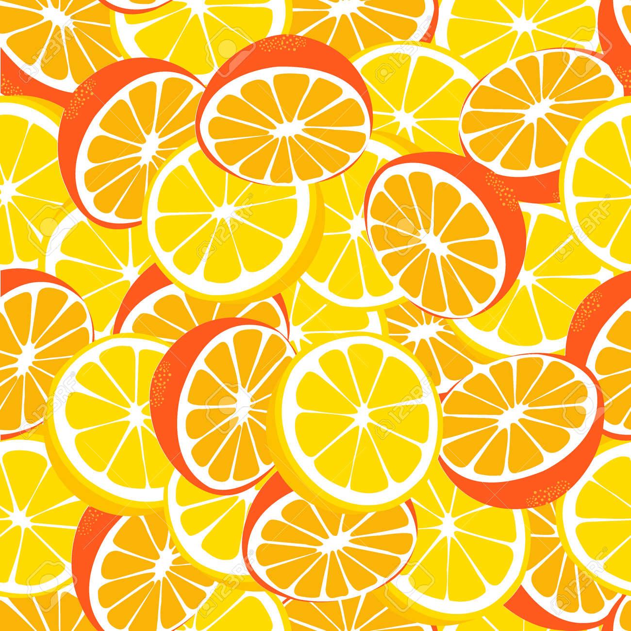 Vettoriale Limone E Arancio Limonata Seamless Lemonade Sfondo