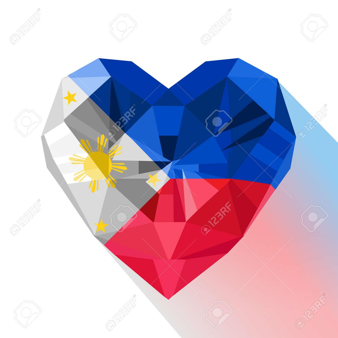 Vector crystal gem jewelry philippine heart with the flag of vector crystal gem jewelry philippine heart with the flag of the republic of the philippines biocorpaavc Choice Image