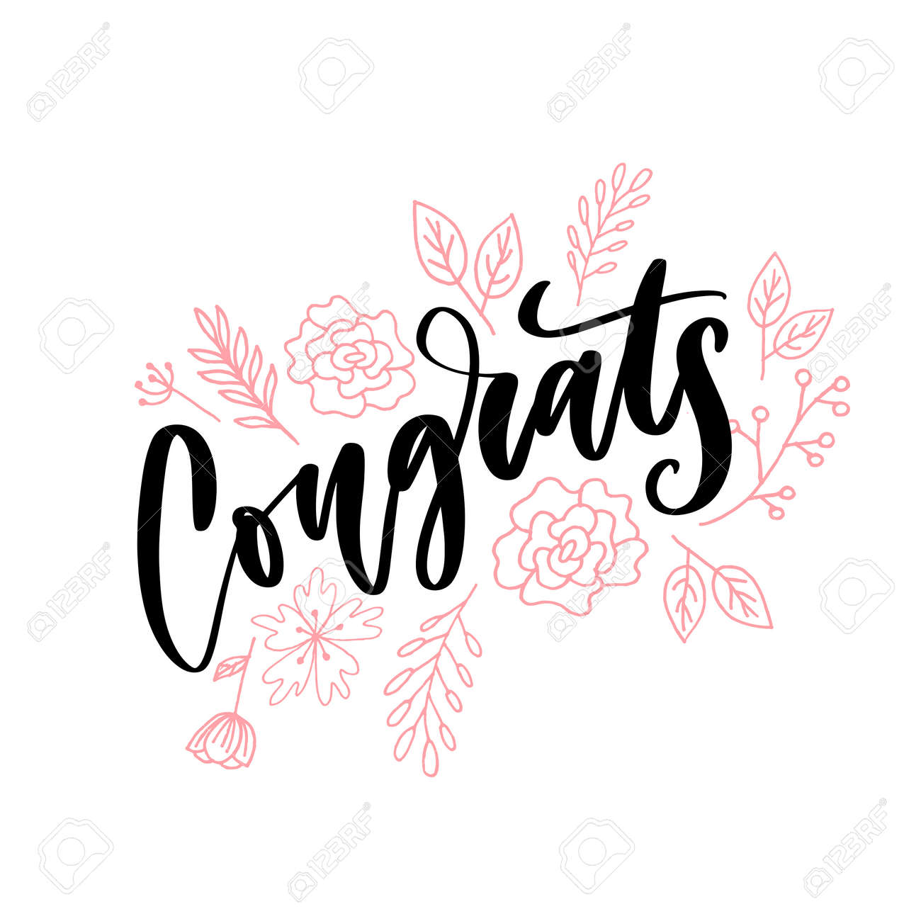 image relating to Congratulations Card Printable referred to as Congrats hand penned lettering for congratulations card, greeting..