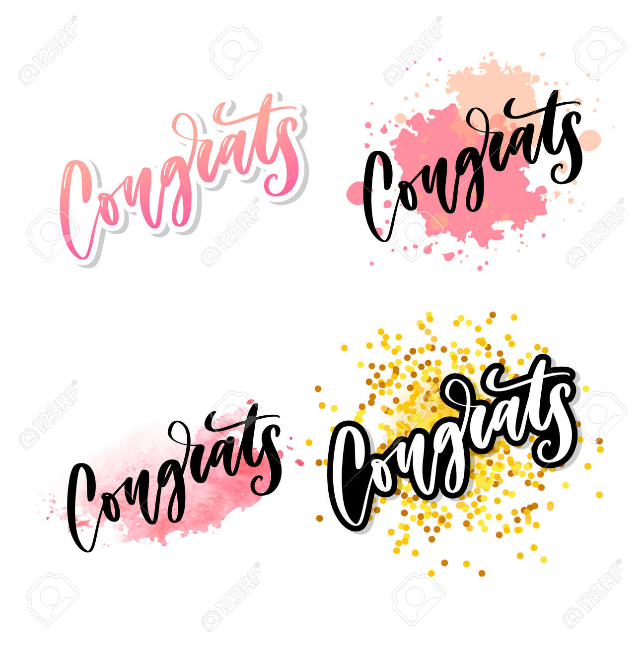 graphic about Congratulations Card Printable known as Congrats hand created lettering for congratulations card, greeting..