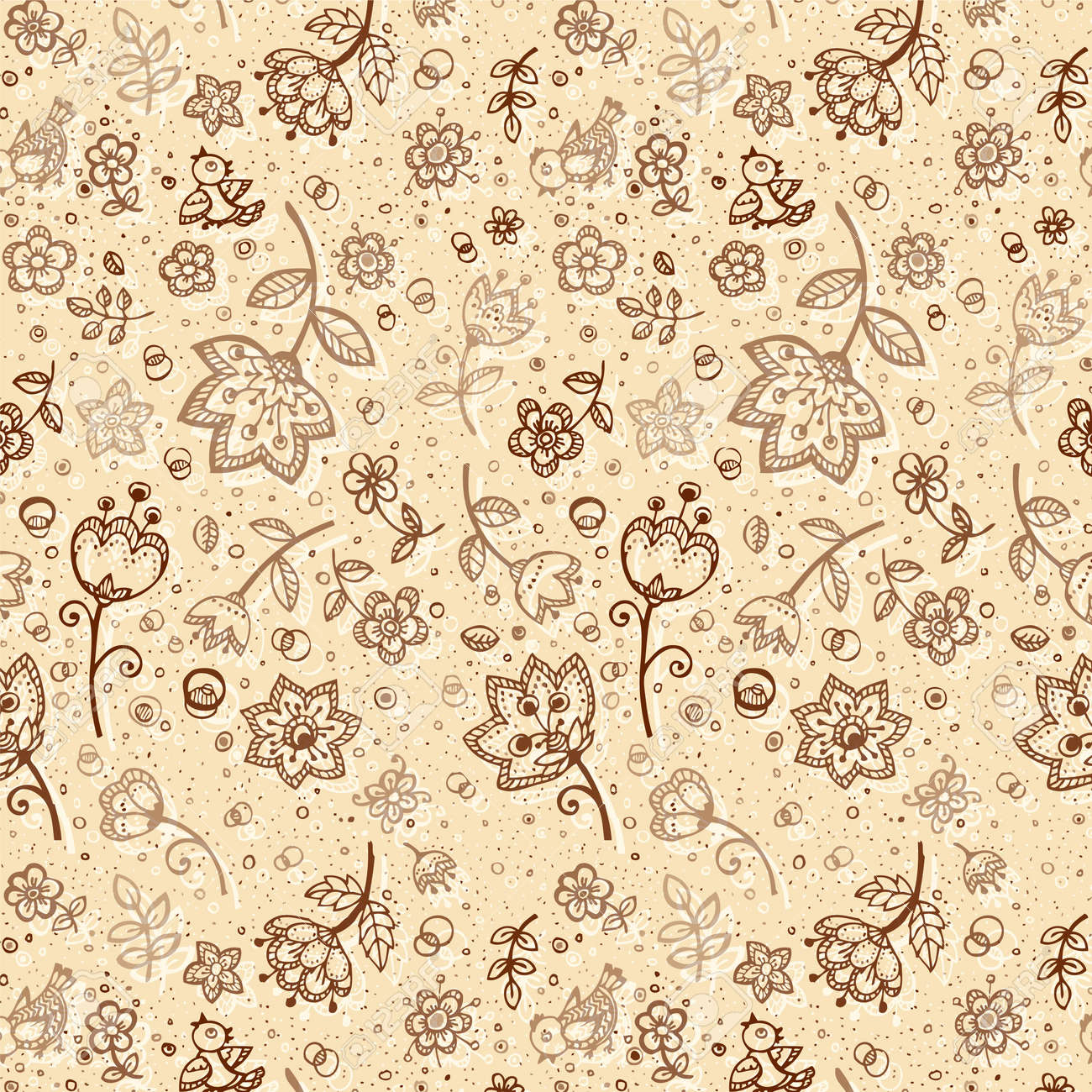 Hand-drawing flower pattern Stock Vector - 16110226