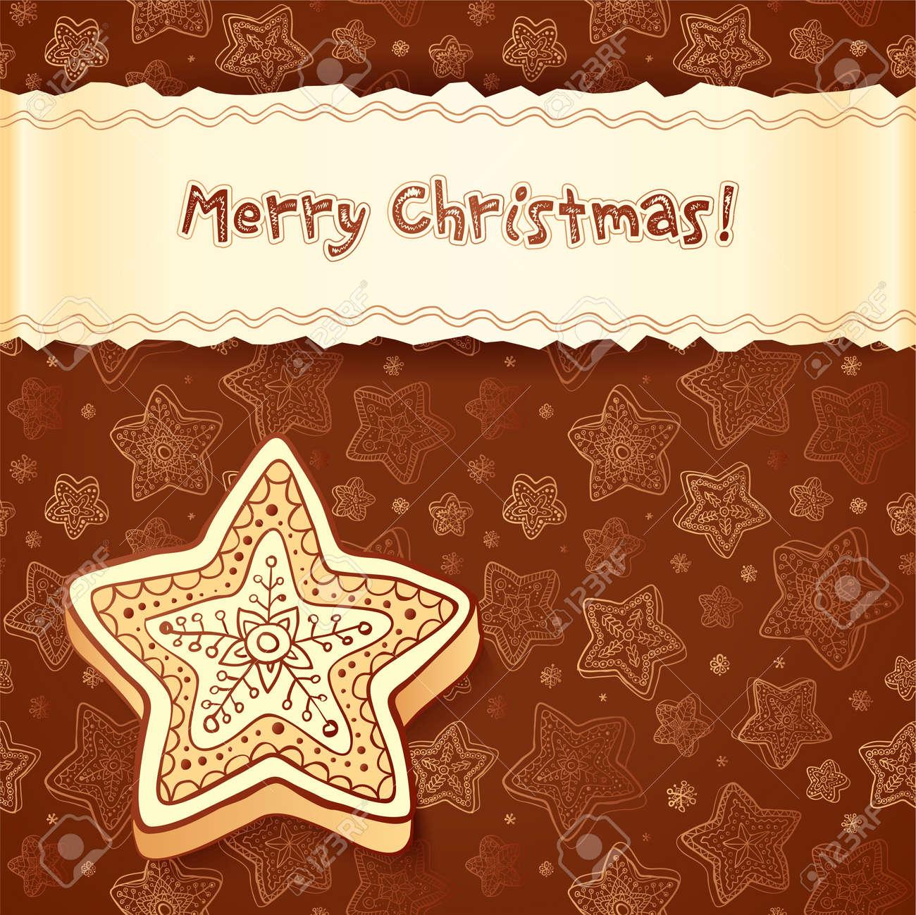 foto de archivo navidad de chocolate pasteles de miel tarjeta de