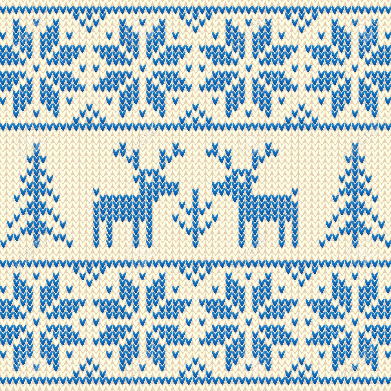 Схема вязания скандинавского мотива