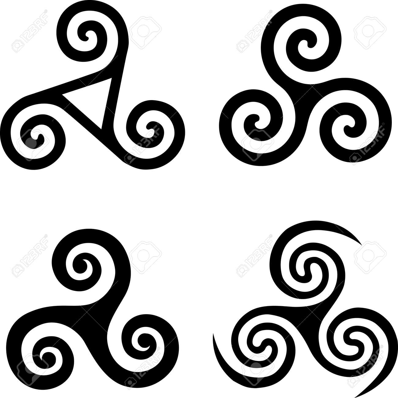 170 triskele stock vector illustration and royalty free triskele set of black isolated celtic symbols triskels illustration buycottarizona Images