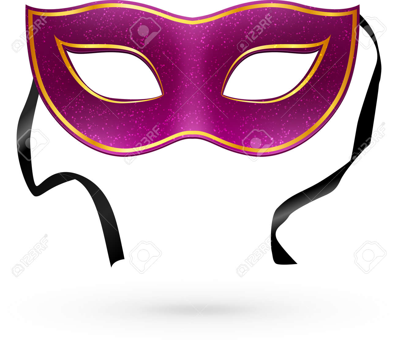 Violet  carnival mask with ribbons Stock Vector - 17854251