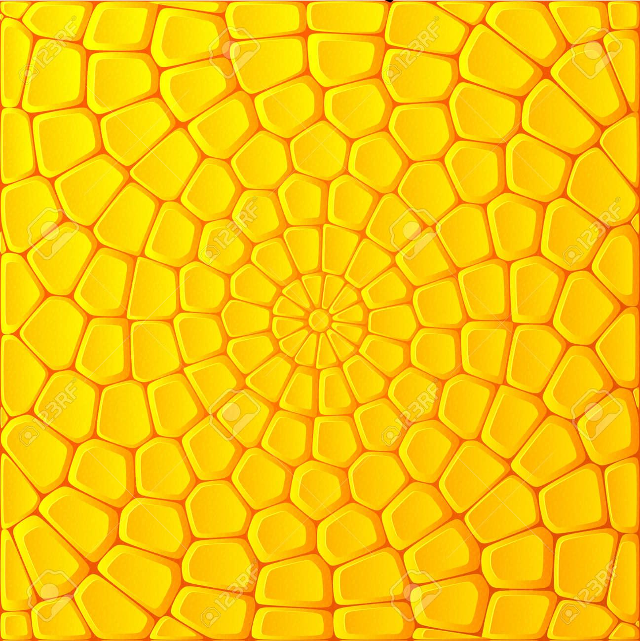 Yellow corn bricks vector abstract background - 18410463