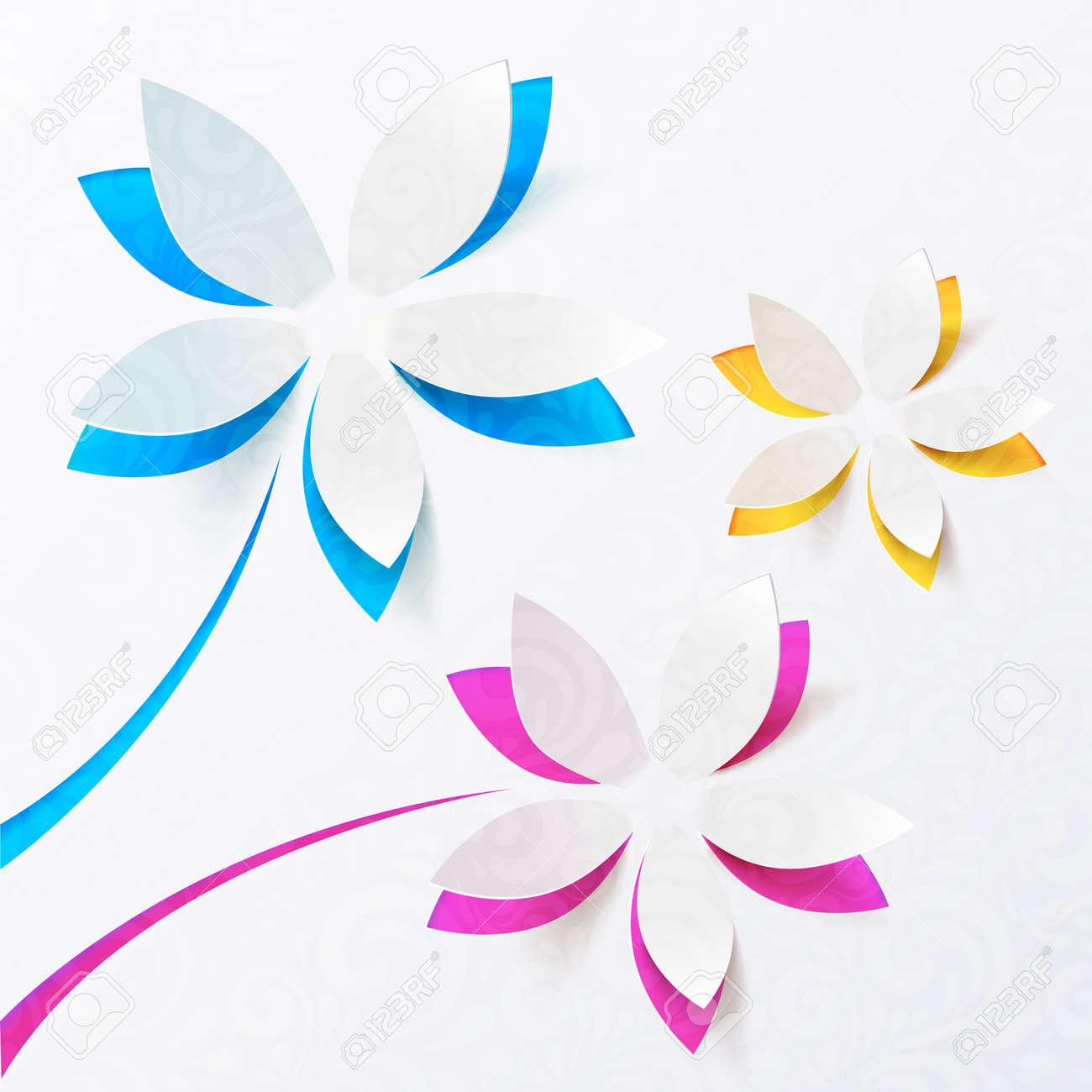 Цветы из альбомной бумаги своими руками схемы