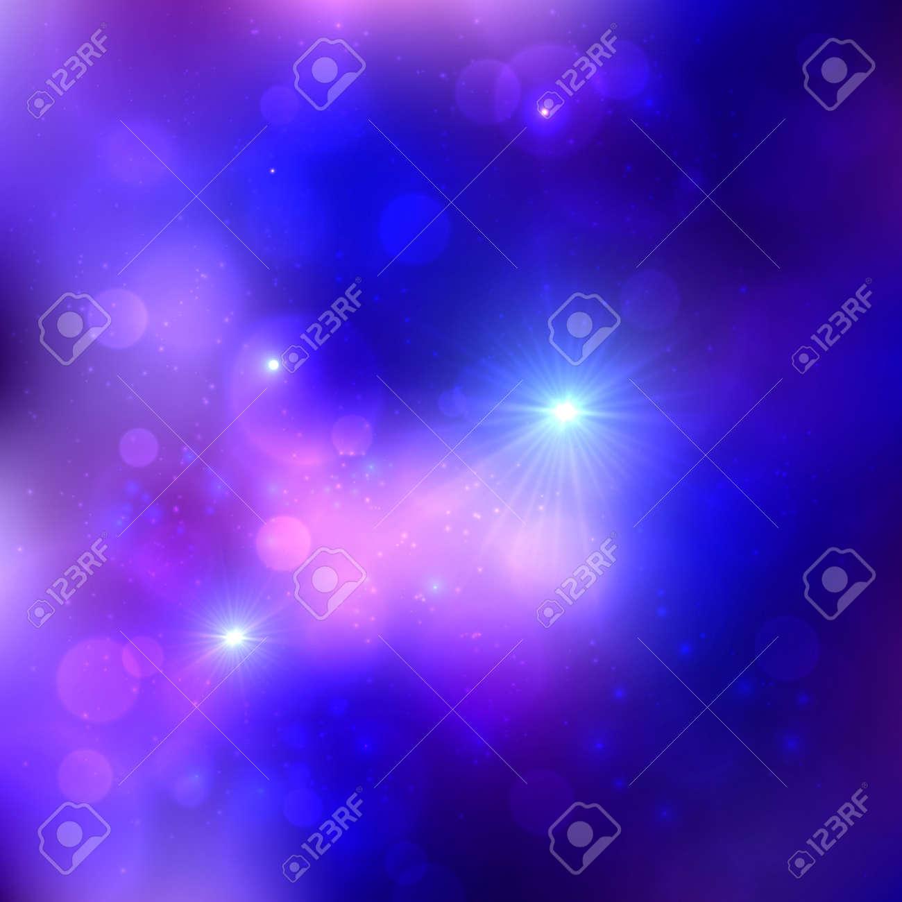 Dark blue shining lights cosmic vector background Stock Vector - 25735977