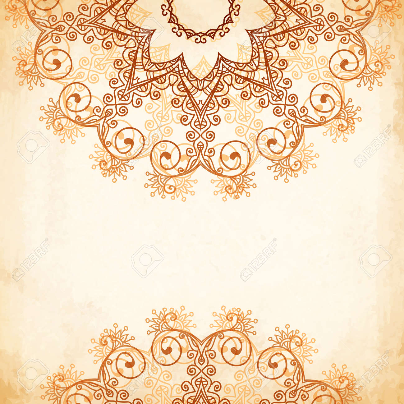 Ornate vintage vector background in mehndi style royalty free stock - Ornate Vintage Circle Vector Seamless Pattern In Mehndi Style Stock Vector 25740675