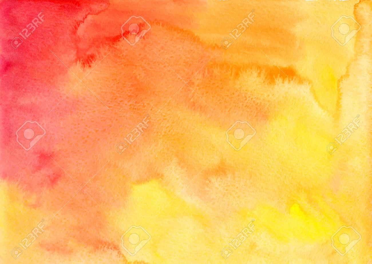 Orange watercolor vector background in album format - 28966547