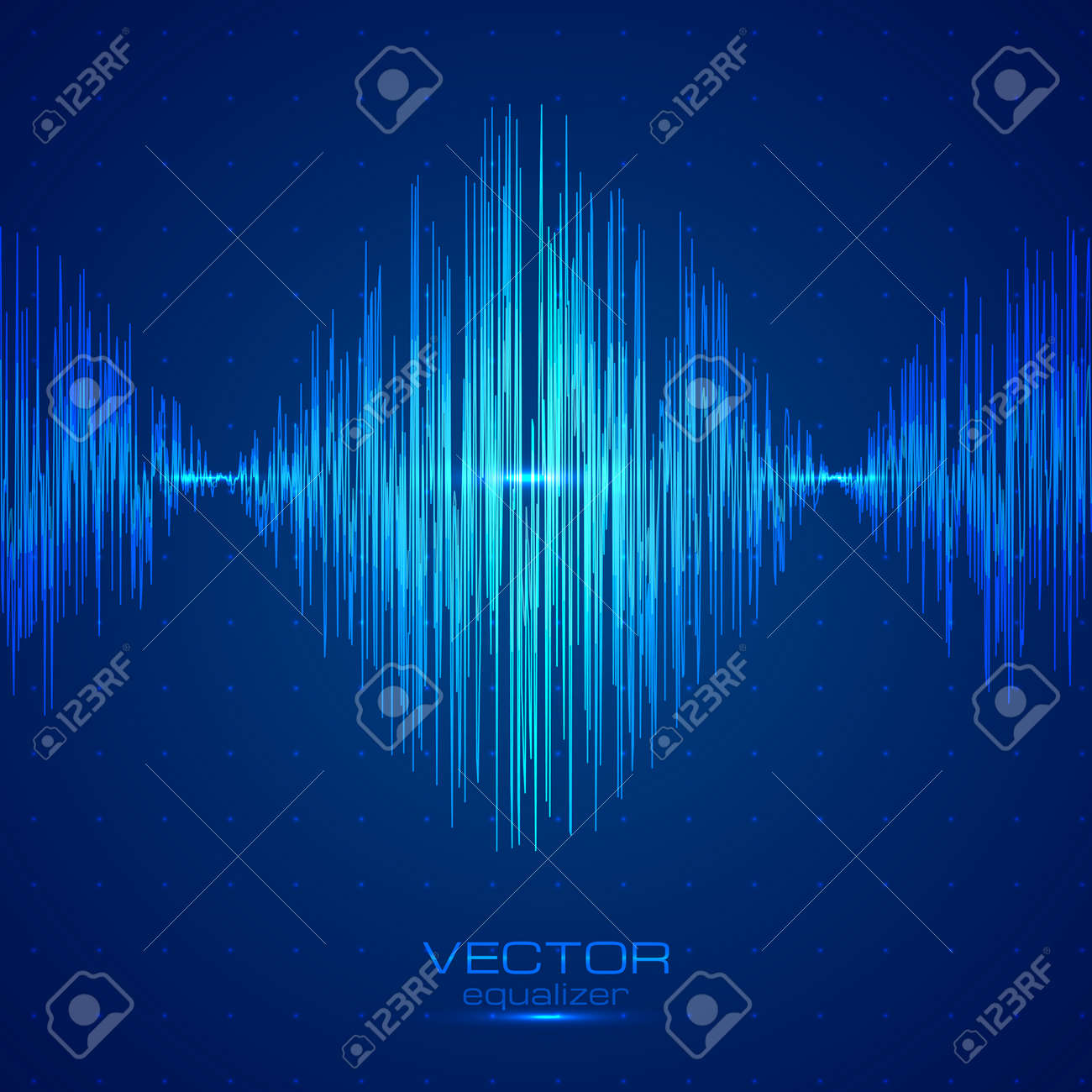 blue vector techno sound wave abstract equalizer royalty free