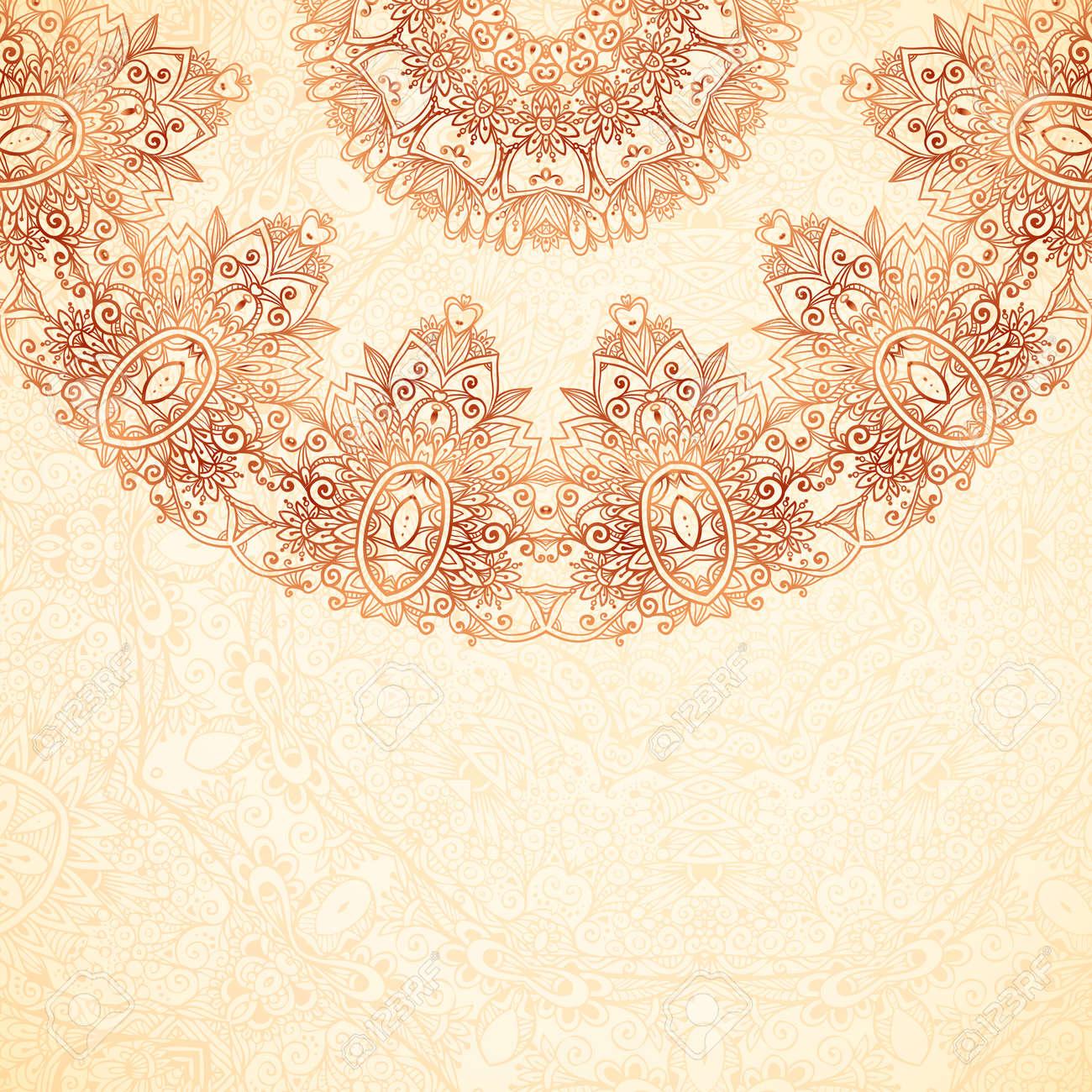 Ornate vintage vector background in mehndi style royalty free stock - Ornate Vintage Background In Mehndi Style Stock Vector 29751793