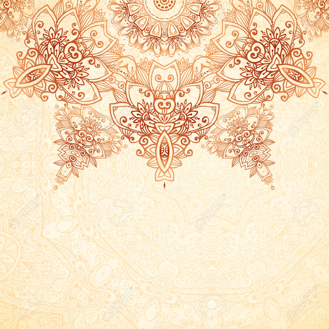 Ornate vintage vector background in mehndi style royalty free stock - Ornate Vintage Background In Mehndi Style Stock Vector 29751795