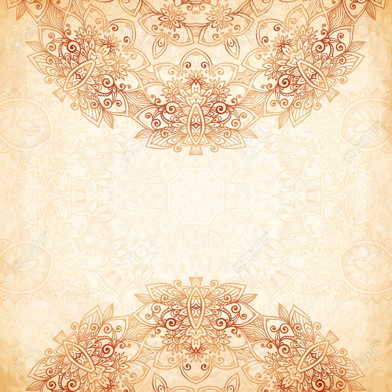 Ornate vintage vector background in mehndi style royalty free stock - Ornate Vintage Background In Mehndi Style Stock Vector 29752122