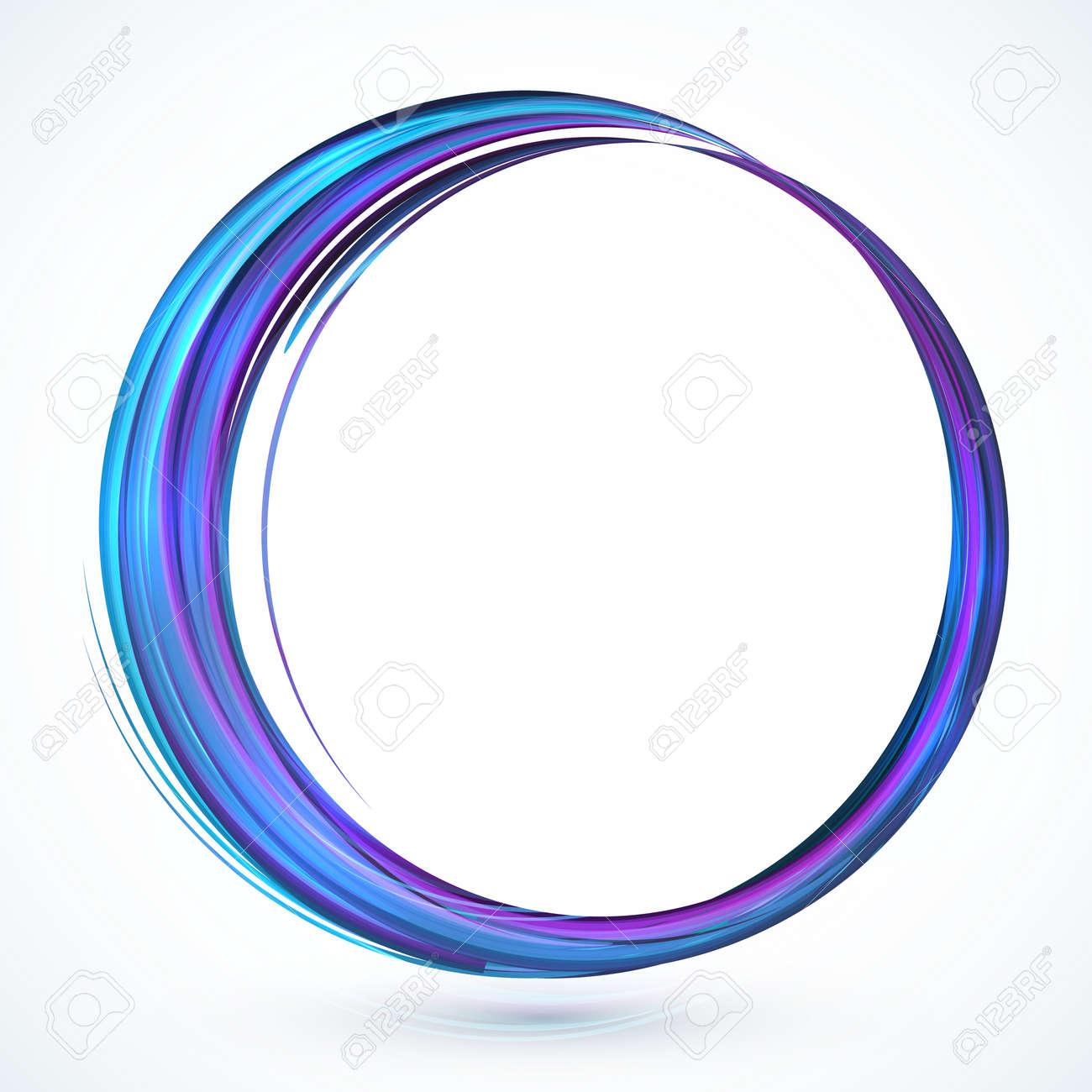 Blue Shining Abstract Vector Circle Frame Royalty Free Cliparts ...