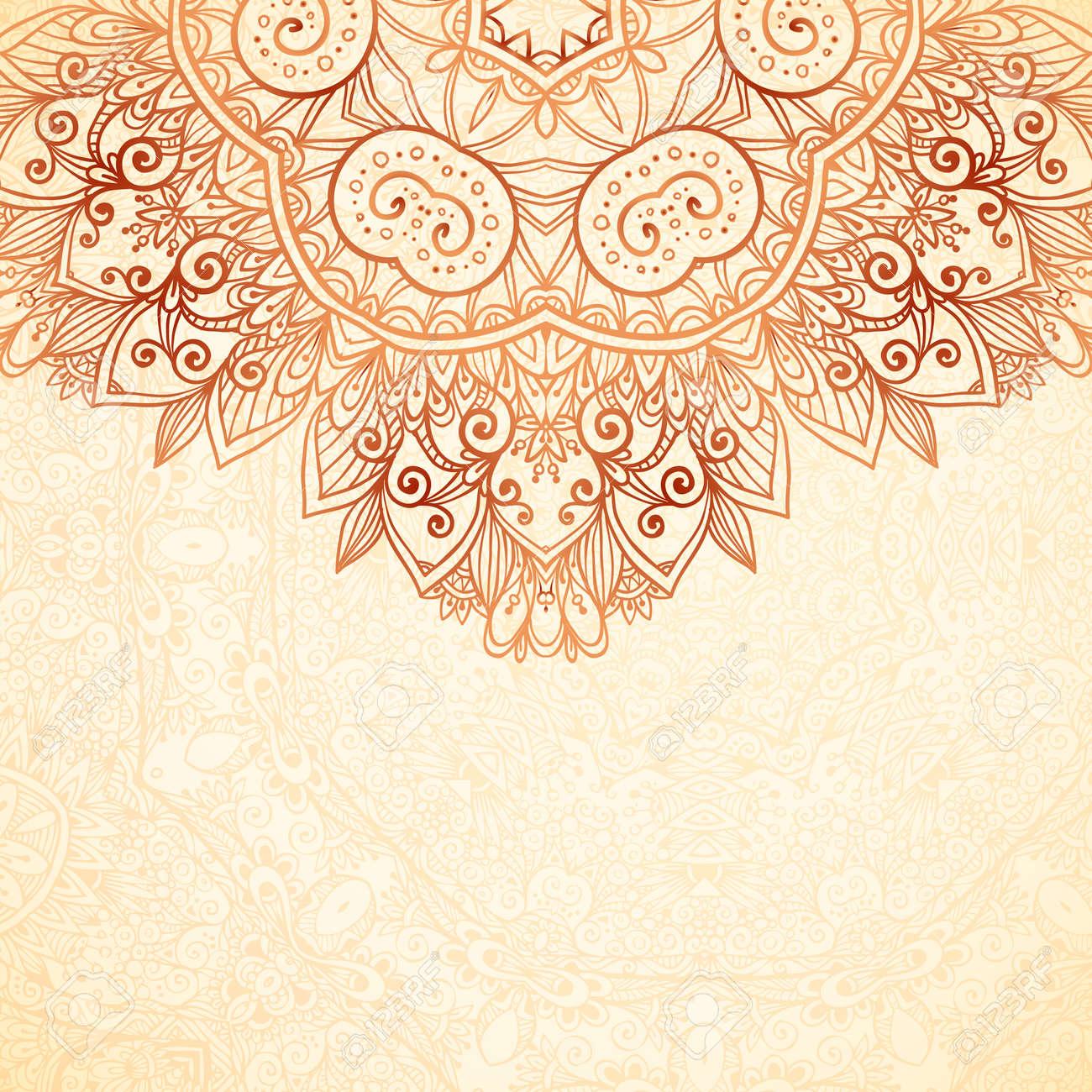 Ornate vintage vector background in mehndi style royalty free stock - Ornate Vintage Background In Mehndi Style Stock Vector 30312408