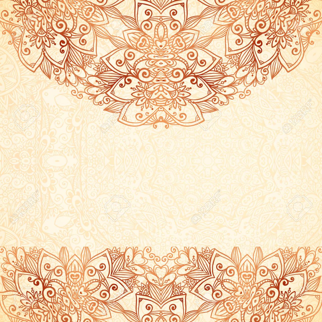 Ornate vintage vector background in mehndi style royalty free stock - Ornate Vintage Background In Mehndi Style Stock Vector 30312409