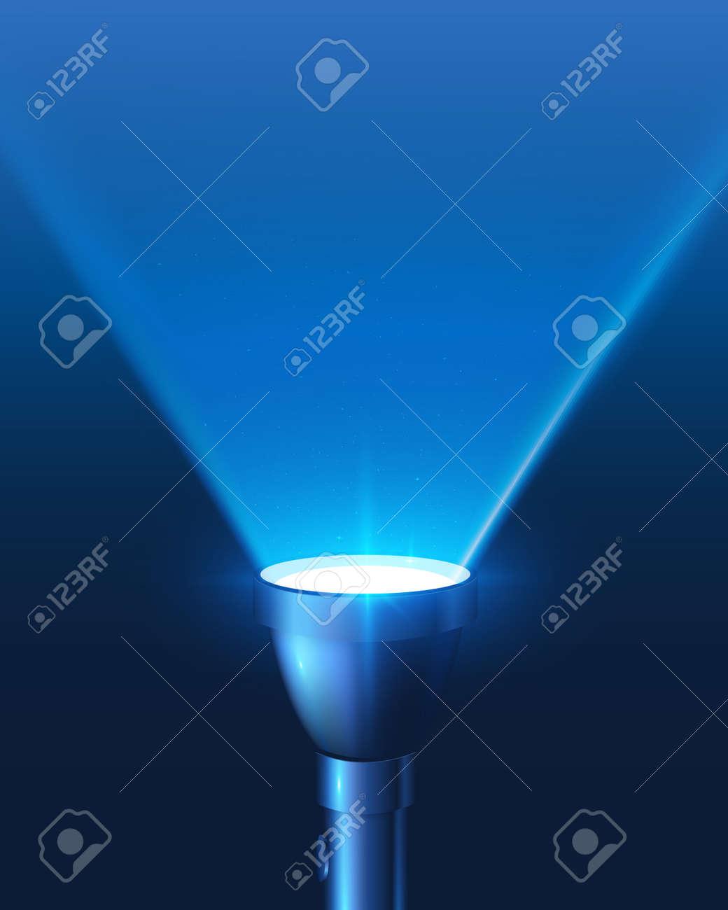 Blue Shining Flashlight Light Vector Background Royalty Free ... for Flash Light Vector Background  585eri