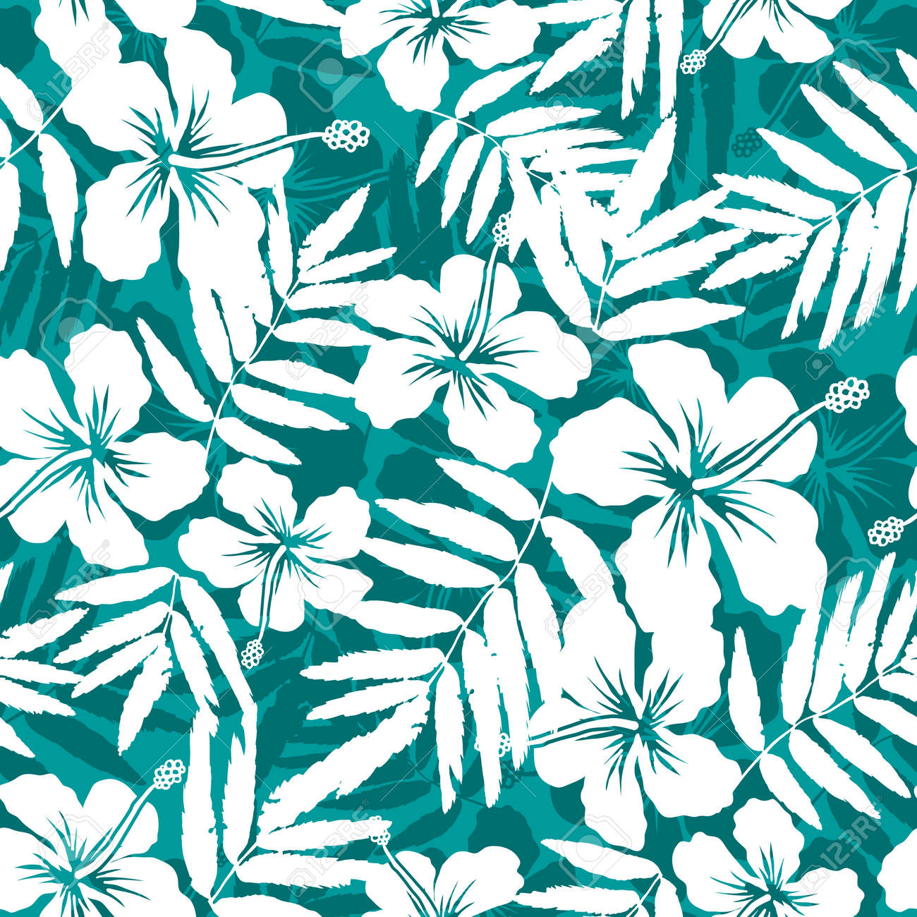 Blue and white tropical flowers silhouettes seamless pattern blue and white tropical flowers silhouettes seamless pattern stock vector 41080837 dhlflorist Image collections