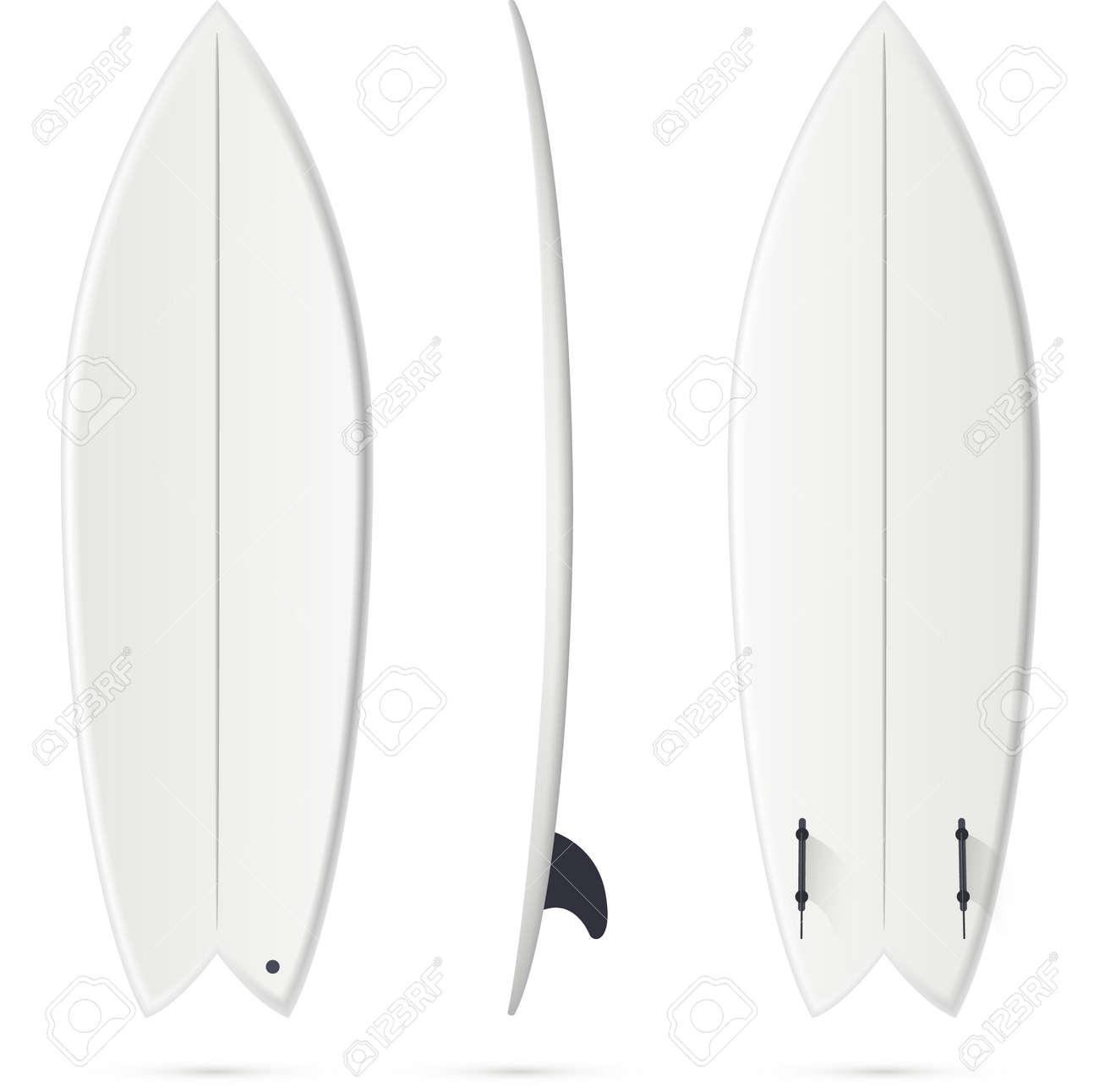 White Vector Surfing Board Template - Fish Surfboard Royalty Free ... 350e5e987aec