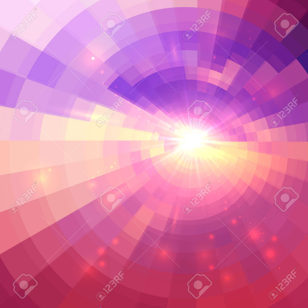 Abstract pink vector circle technology mosaic background Stock Vector - 41996738