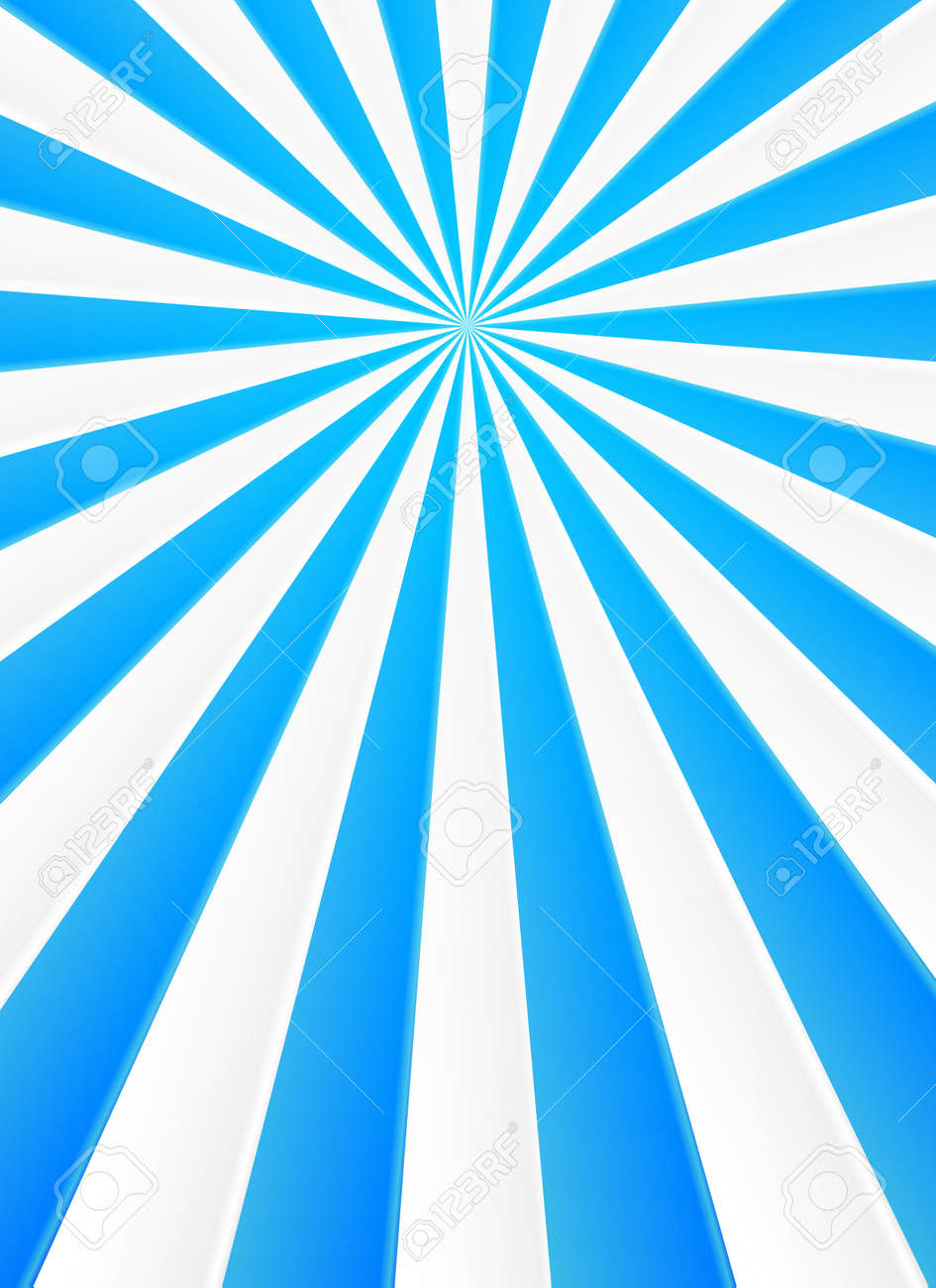 blue and white rays vector abstract circus poster background royalty