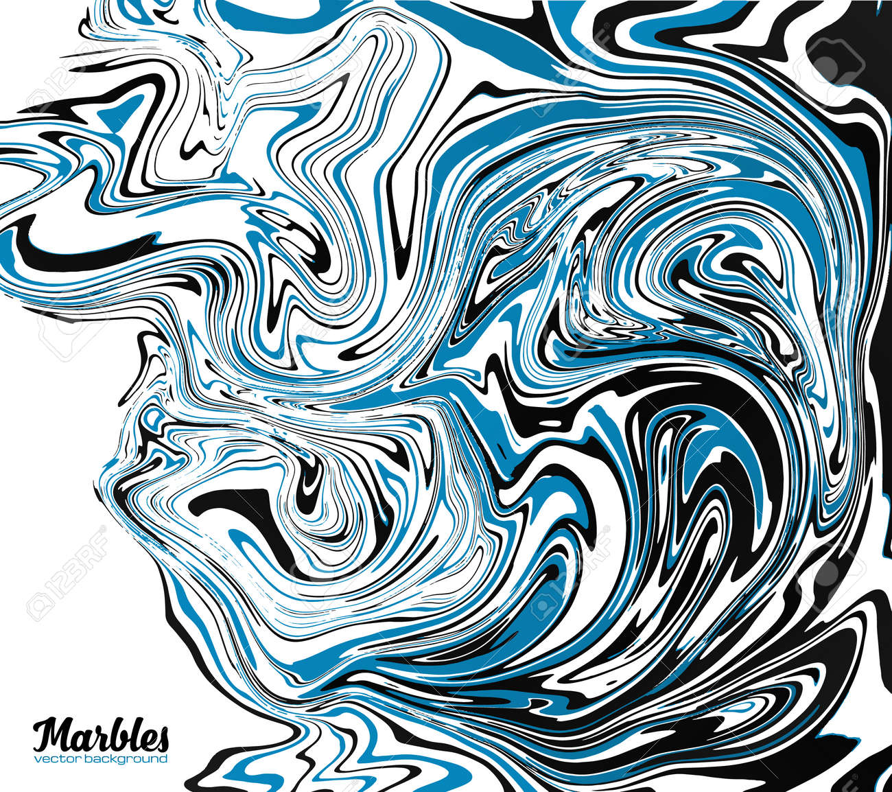 Black blue and white marble watercolor style abstract vector background stock vector 59796511